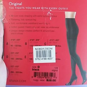 SPANX Accessories - Nwt spanx black tight end tights original